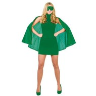 Super Hero Cape met masker in groen