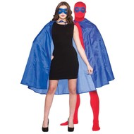 Super Hero Cape met masker in blauw