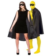 Super Hero Cape met masker in zwart