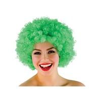 Funky Afro pruik in groen