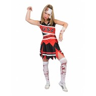Zombie cheerleader dames pak