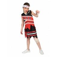 Zombie cheerleader pak meisje