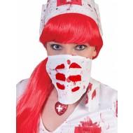 Mond kapje zombie verpleegster
