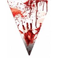 Vlaggenlijn met nep bloedspetters