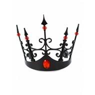 Kroon zwart met rode stenen