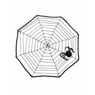 Spinnenweb  met zwarte spin
