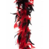 Zwart rode boa duivelin