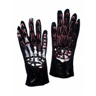Skelet handschoenen nep bloedspetters