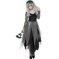 Zwarte bruid kostuum begraafplaats
