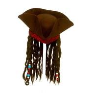 Piraten hoed met dreadlocks