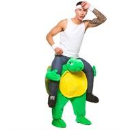 Gedragen door schildpad kostuum
