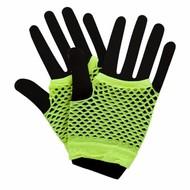 Visnet handschoenen in neon geel