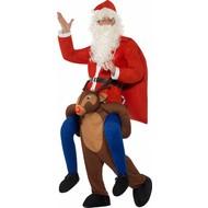 Gedragen door rendier Rudolph