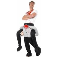 Gedragen door man zonder hoofd