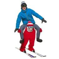 Gedragen door skiër kostuum