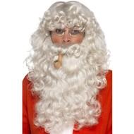 Kerstman baard met bril