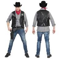 Stoer cowboyvest zwart