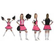 Cheerleader jurk dames roze