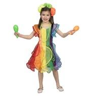 Regenboog jurkje voor kinderen