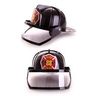 Plastic brandweerhelm zwart