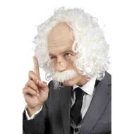 Schedel professor met snor en bril Einstein