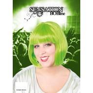 Pruik sensation boblijn fluo groen