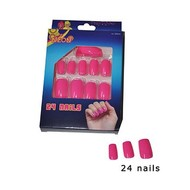 Roze fluor nagels