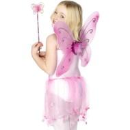 Verkleedset Vlinder Mirthe roze