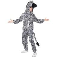 Zebra kostuum groot hoofd