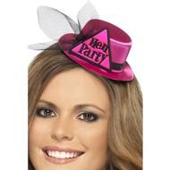 Mini hoedje hen party in roze
