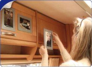ZILVER GRIJZE Her-Plakbare Fotolijstjes 6 x set2 lijstje