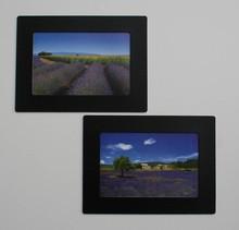 Zwarte herplakbare Fotolijstjes set 2 lijstjes voor foto's 10 x 15 cm + Bonus: 2 lijstjes  voor deel foto's 10 x 6
