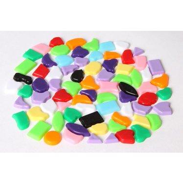 Cristallo Kunststof mozaieksteentjes 500 gram