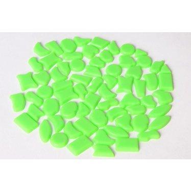 Cristallo Kunststof mozaieksteentjes ca. 500 gram LICHTGROEN