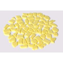 Cristallo Kunststof mozaiek-steentjes ca. 500 gram GEEL