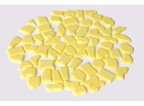 Cristallo Kunststof mozaieksteentjes ca. 500 gram GEEL