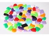 Cristallo Kunststof mozaiek-steentjes 70 gram MIX-kleuren
