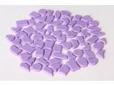 Cristallo Kunststof mozaiek-steentjes ca. 70 gram VIOLET