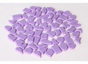 Cristallo Kunststof mozaieksteentjes ca. 70 gram VIOLET