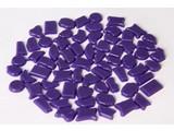 Cristallo Kunststof mozaiek-steentjes ca. 70 gram PAARS