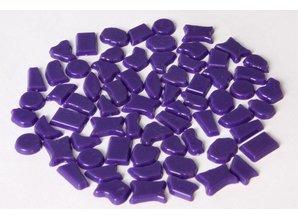 Cristallo Kunststof mozaieksteentjes ca. 70 gram PAARS