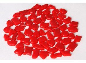 Cristallo Kunststof mozaieksteentjes ca. 70 gram ROOD