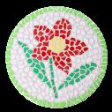 Mozaiek wandbord Bloem