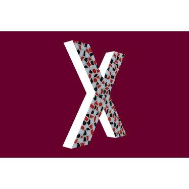 Cristallo Mozaiek pakket Letter X Stoer
