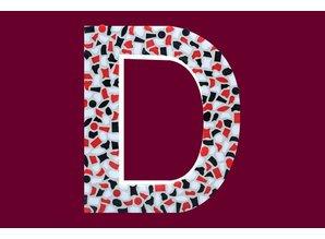 Cristallo Mozaiek pakket Letter D Stoer
