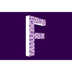 Cristallo Design Zacht, Letter F