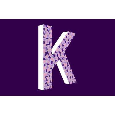 Cristallo Mozaiek pakket Letter K Zacht