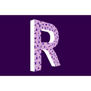 Cristallo Mozaiek pakket Letter R Zacht