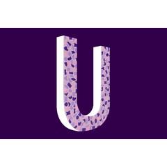 Cristallo Design Zacht, Letter U