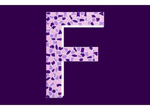 Cristallo Mozaiek pakket Letter F Zacht